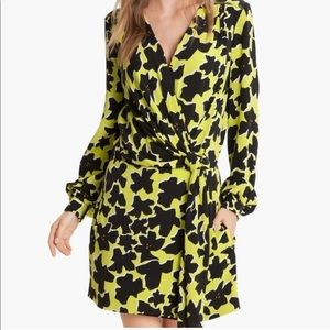 Diane Von Furstenberg Dora Faux Wrap Silk Dress